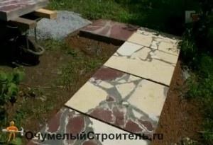 Дорожки на даче из керамической плитки