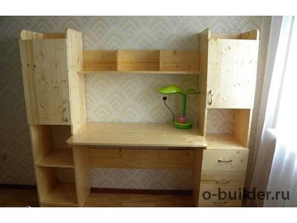 писменный стол из дерева дсп своими руками 34