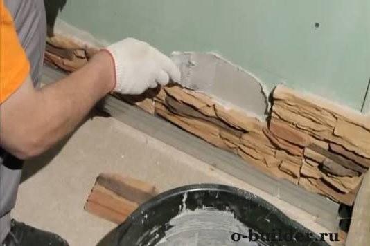 Монтаж декоративного камня своими руками 6