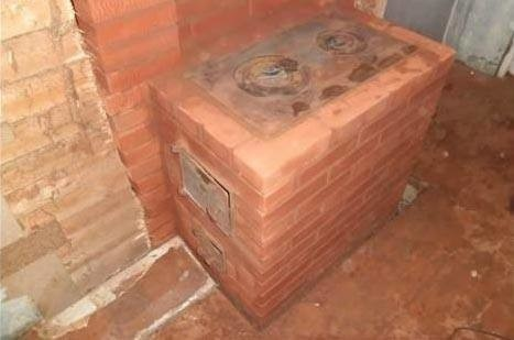 Дровяная печь из кирпича для дачи своими руками