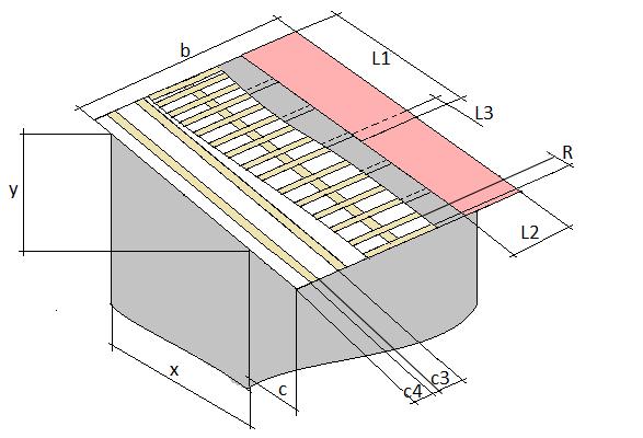 Схема (конструкция или чертеж) односкатной крыши