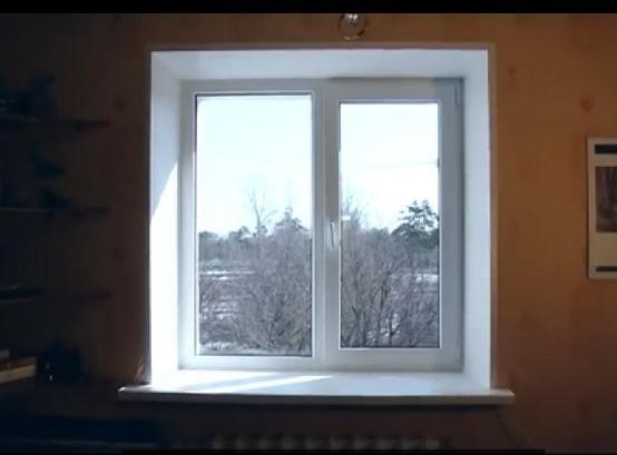 Окно после установки откосов