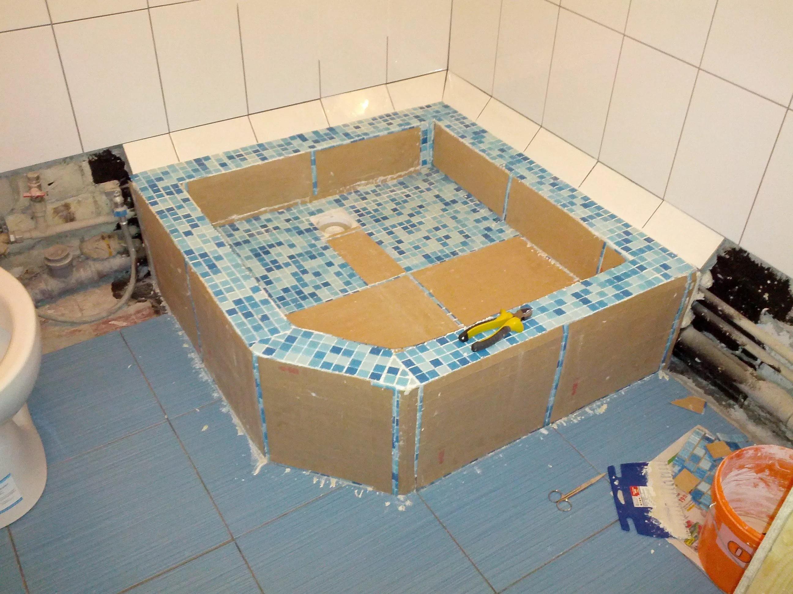 Как правильно сделать душевую из плитки