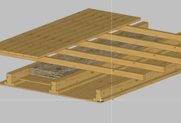 деревян перекрыт аксонометр