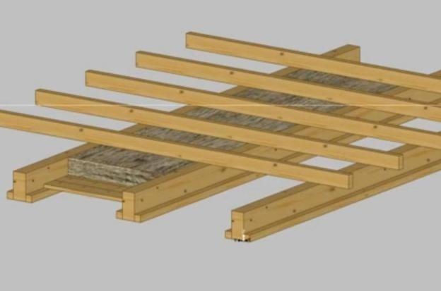 деревян перекрыт лаги